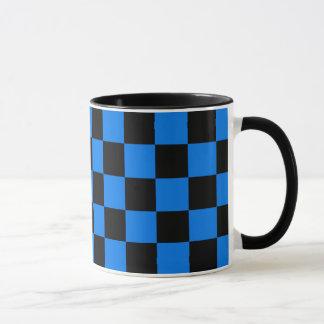 Black and Blue Checkerboard Mug