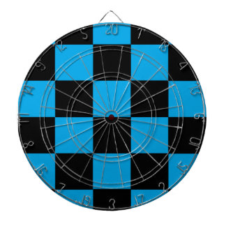 Black And Blue Checkered Dart Boards