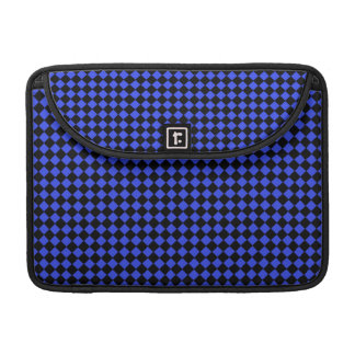 """Black and Blue Checks 13"""" Sleeve For MacBook Pro"""