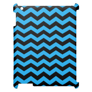 Black and Blue Chevron Pattern Cover For The iPad 2 3 4