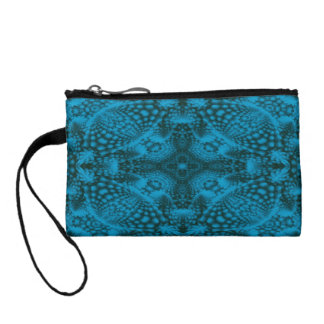 Black And Blue Colorful Clutches Change Purse