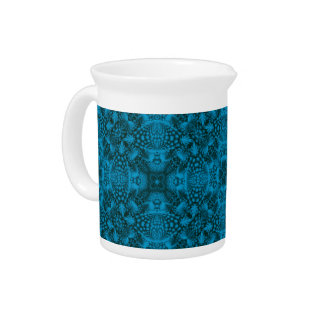 Black And Blue Colorful  Porcelain Pitchers