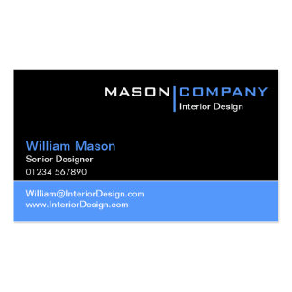 Black and Blue Corporate Business Card