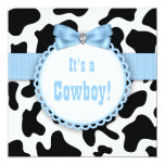 Black and Blue Cowboy Baby Boy Shower Personalized Announcement