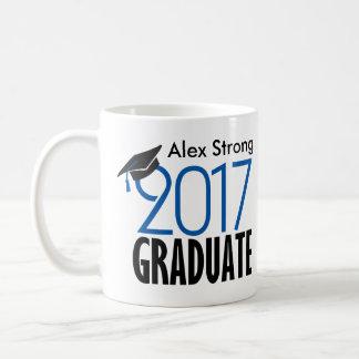 Black and Blue Customizable Graduation Coffee Mug