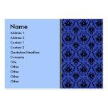 Black and Blue Damask Design Pattern. Business Card Templates