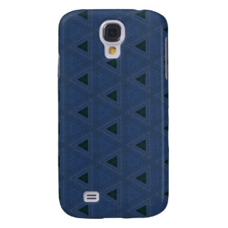 Black and Blue Denim Triangle Pattern Samsung Galaxy S4 Cover