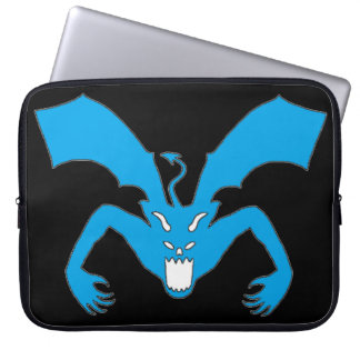 Black And Blue Devil Laptop Sleeve