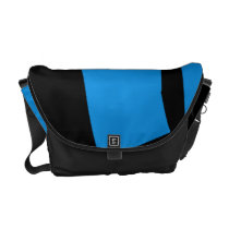 Black and Blue Devour Messenger Bag