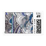 Black and blue doodle stamp