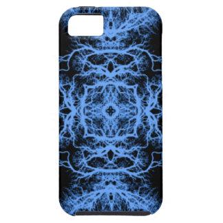 Black and Blue Elegant Pattern iPhone SE/5/5s Case
