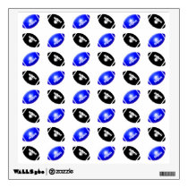 Black and Blue Football Pattern Wall Sticker