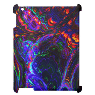 Black and Blue Fractal Abstract Art iPad Covers