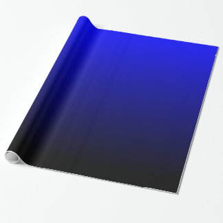 Black and Blue Gradient Gift Wrap Paper