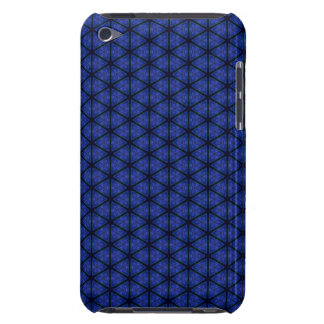 Black and Blue Hexagon iPod Case-Mate Case