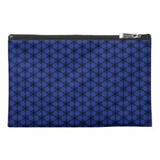Black and Blue Hexagon Travel Accessory Bag