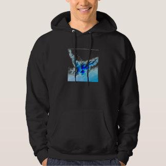 Black and blue hoodie