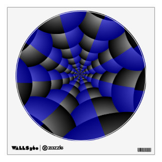 Black and Blue Infinity Wall Decal