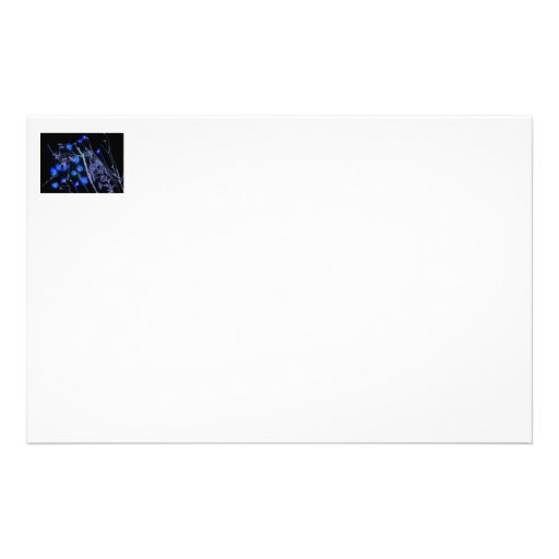 Black and blue invert of Florida wildflowers Stationery