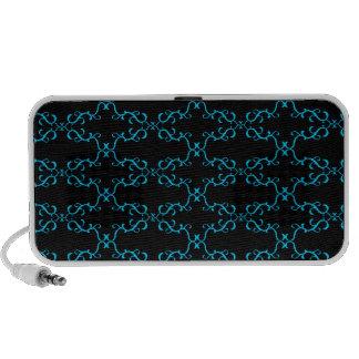 Black and Blue Laptop Speaker