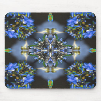 Black and Blue Mouse Pad
