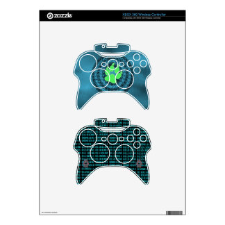 Black and Blue Neon Paw and Binary Red/cyan paws Xbox 360 Controller Skins