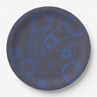 Black and Blue Paper Plate