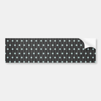 Black and Blue Polka Dots Background Bumper Sticker