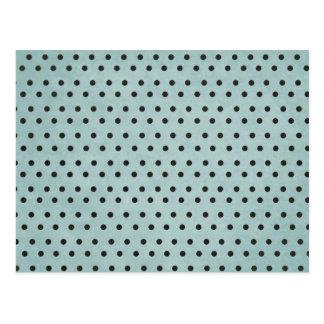 Black and Blue Polka Dots Background Postcard