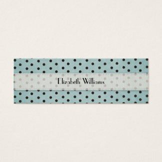 Black and Blue Polka Dots Mini Business Card