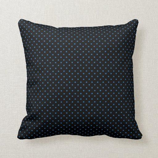 Black and Blue Polka Dots Pillow