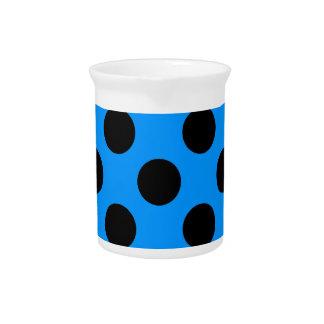 Black and Blue Polkadots Pitcher