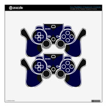 Black and Blue PS3 Controller Skin