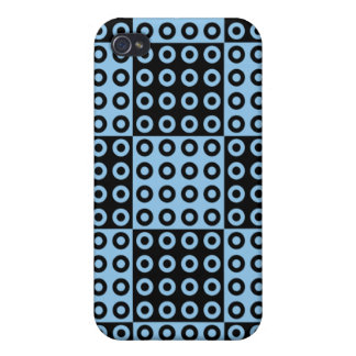 Black and Blue Retro Checker Pern Cases For iPhone 4