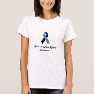 Black and Blue Ribbon Awareness Women's Shirt