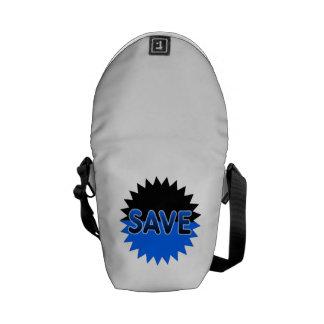 Black and Blue Save Messenger Bag