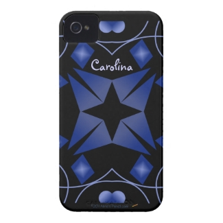 Black and Blue Shining Star Kaleidoscope Abstract