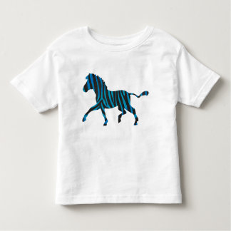 Black and Blue Silhouette Zebra Toddler T-shirt
