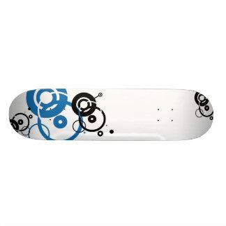 Black and Blue Skateboard Deck
