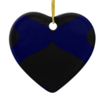 Black and Blue Smooch Ceramic Ornament