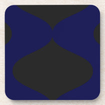 Black and Blue Smooch Drink Coaster
