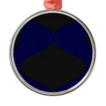 Black and Blue Smooch Metal Ornament