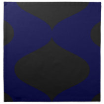 Black and Blue Smooch Napkin