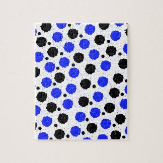 Black and Blue Splash Dots Puzzle