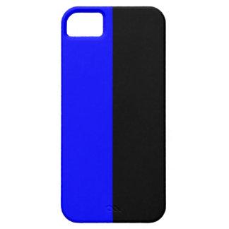 Black and Blue Split Color iPhone 5 Cases
