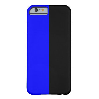 Black and Blue Split Color iPhone 6 Case
