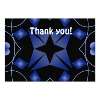 Black and Blue Star Kaleidoscope Abstract Invites