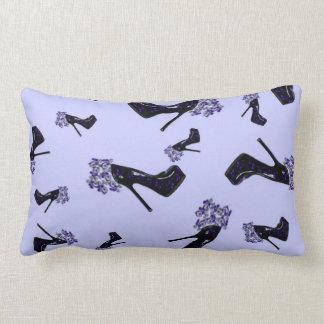 Black and Blue Stiletto Pumps Pillow
