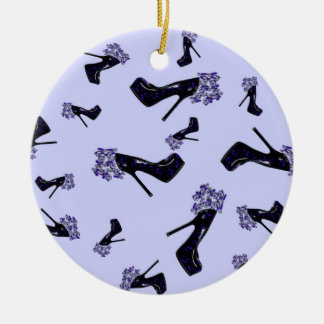 Black and Blue Stilettos Christmas Ornament