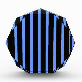 Black and Blue Stripes Acrylic Award